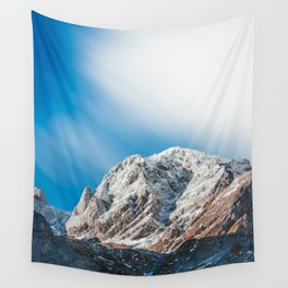 Misty clouds over the mountains Wall Tapestry