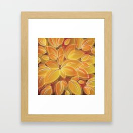 Warm Golden Autumn Flowers Framed Art Print