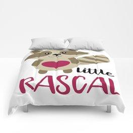 Little Rascal Raccoon Kids Cute Forest Animal Comforters