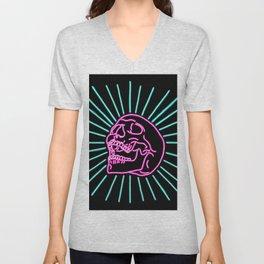 Pink Laughing Skull Unisex V-Neck