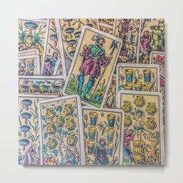 Antique playing cards Metal Print