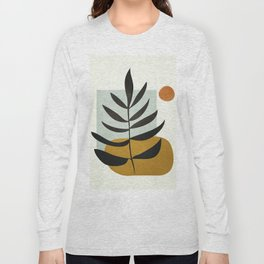 Soft Abstract Large Leaf Long Sleeve T-shirt