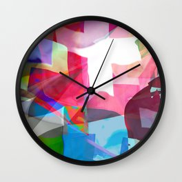 swissflag collage colorful Wall Clock