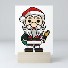Bubblehead Santa CLAUS Children Kids Cartoon Mini Art Print