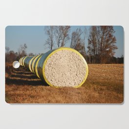 Round Bales Of Cotton Cutting Board