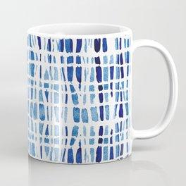 Shibori Braid Vivid Indigo Blue and White Coffee Mug
