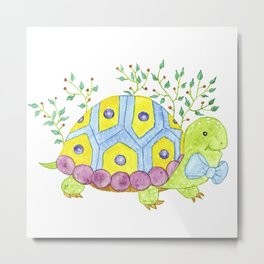 Colorful turtle Metal Print