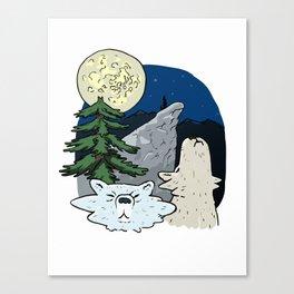 Vintage Wolf T-shirt Canvas Print