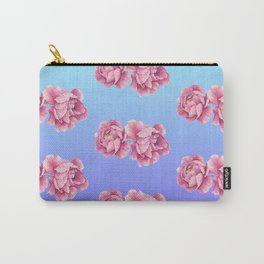 Watercolor Peony Fade Carry-All Pouch