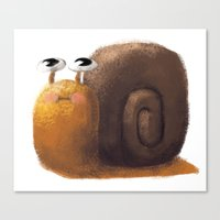 snail Canvas Prints featuring Snail by Isableh