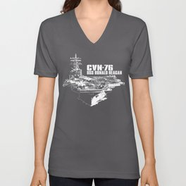 CVN-76 Ronald Reagan Unisex V-Neck