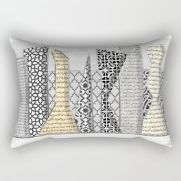 Arabian contemporary city skyline Rectangular Pillow