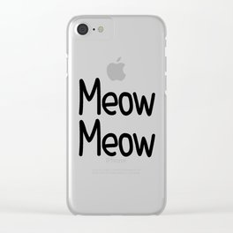 Meow Meow Clear iPhone Case