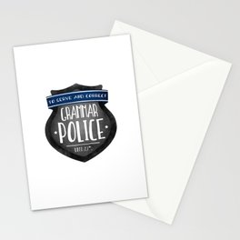 Grammar Police Stationery Cards