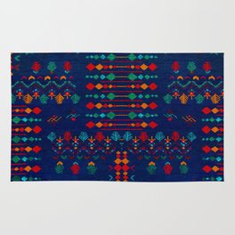 -A17- Anthropologie Moroccan Blue Artwork. Rug