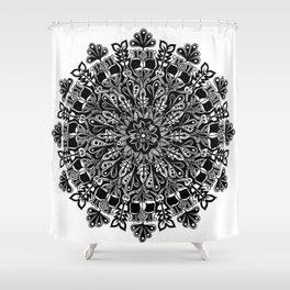 Mandala: Skeleton Leaves Shower Curtain