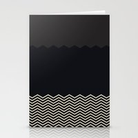 chevron Stationery Cards featuring Chevron by Georgiana Paraschiv
