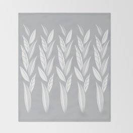 Eternity in Silver Leaf Throw Blanket