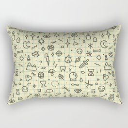 Doodles Pattern Rectangular Pillow