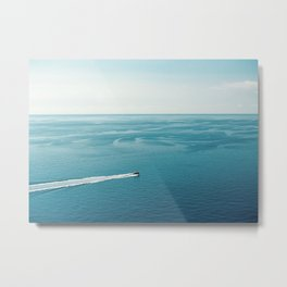 """Travel photography print """"Blue blue ocean"""" photo art made in the south of italy Metal Print"""