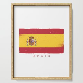 SPAIN GRUNGE FLAG Serving Tray