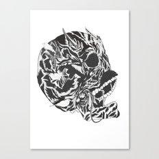 Skull Moustache Canvas Print