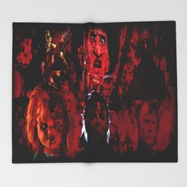 Masters Of All Horrors Throw Blanket
