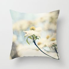 Love, the Dogwood Throw Pillow