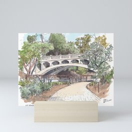 Arboretum Bridge, UC Davis Mini Art Print