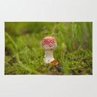 mushroom Area & Throw Rugs featuring Mushroom by Mirella von Chrupek