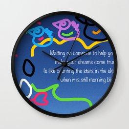 Make Things Happen (Motivation) Wall Clock