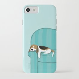 Happy Couch Beagle iPhone Case