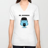 heisenberg V-neck T-shirts featuring Heisenberg by Krikoui