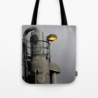 fallout Tote Bags featuring After the Fallout by Jeffrey J. Irwin