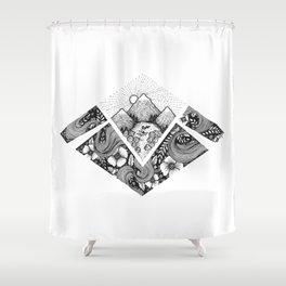Geometric Nature Shower Curtain