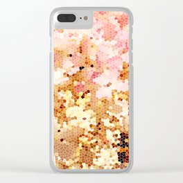 Blush Pink Abstract Spring Floral | Easter | Millennial Pink Clear iPhone Case