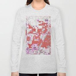 Vintage Map of Las Vegas Nevada (1967) Long Sleeve T-shirt