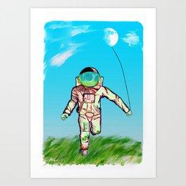 The Astro Runner  Art Print