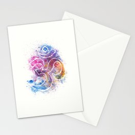 OM Symbol Watercolor Art Stationery Cards