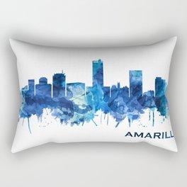 Amarillo Texas Skyline Blue Rectangular Pillow