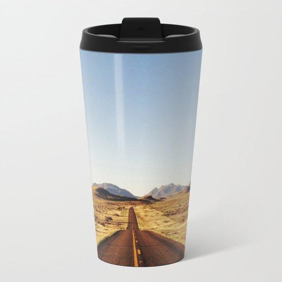 Golden Rolling Hills Road Metal Travel Mug