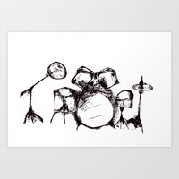 drums Art Prints featuring Drums by Jake Stanton