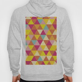 Orange yellow pink geometrical abstract triangles Hoody