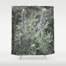 wildflowers botanical photography plant flowers nature shower curtain