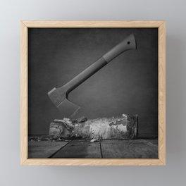 Chopping Wood Framed Mini Art Print