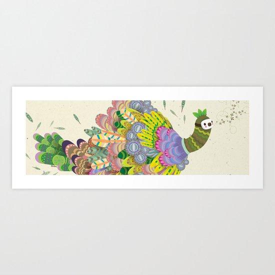 Cloud Peacock Art Print