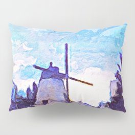 The Windmill's Dream of Time Pillow Sham