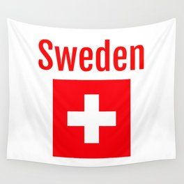 Sweden - Swiss Flag Wall Tapestry