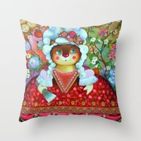 princess Throw Pillows featuring Princess by oxana zaika