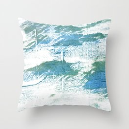 Mint cream watercolor Throw Pillow